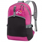 WindTour WTZDB1 Convenient Outdoor Folding Chinlon Backpack - Deep Pink + Black (22L)