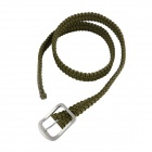 OUMILY Handgjorda Survival Belt Paracord Belt - Army Grön