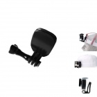 JUSTONE J014-1 Selfie Monopod Clip Mount Set + Long Screw for GoPro Hero 2 / 3 / 3+ - Black