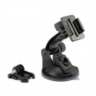 JUSTONE Car Suction Cup Fixing Holder w/ Mount Base for SupTig / GoPro Hero 2 / 3 / 3+ - Black