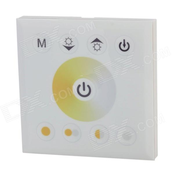 DC12~24V 4A/CH 2-CH 9-Key LED Light Strip Touch Panel Controller - White + Light Yellow