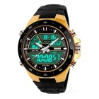 SKMEI 1016 50m Waterproof LED / Pointer Dual Mode Display Men's Sports Watch - Black + Yellow