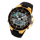 SKMEI 1016 Men's Waterproof Analog + Digital Watch - Black + Yellow