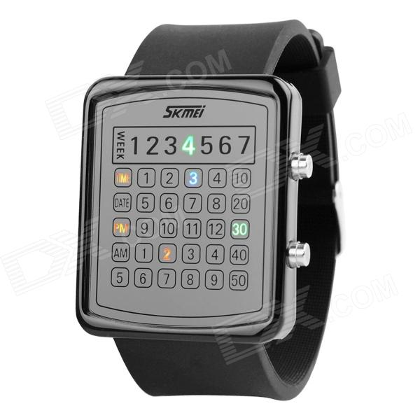 SKMEI 0987 30m vanntett LED digital Dial - svart (1 x CR2016)