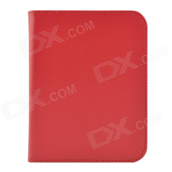 Litchee Pattern Protective PU Leather Case Cover for Nook GlowLight / Nook 4 - Red