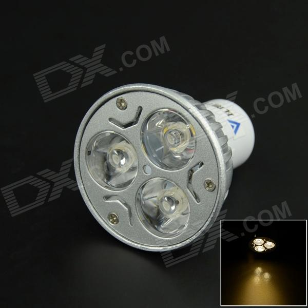 WaLangTing GU10 3W 330lm 3200K 3-LED Warm White Light Spotlight - Silver (AC 85~265V)
