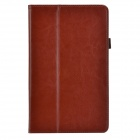 Business 2-Fold Protective PU Leather Case Cover Stand for Lenovo ThinkPad 8 - Rufous