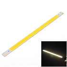 10W 600lm 3000K 30-COB-LED Warm White Light Bar - Silber + Gelb (DC 12 ~ 14V)