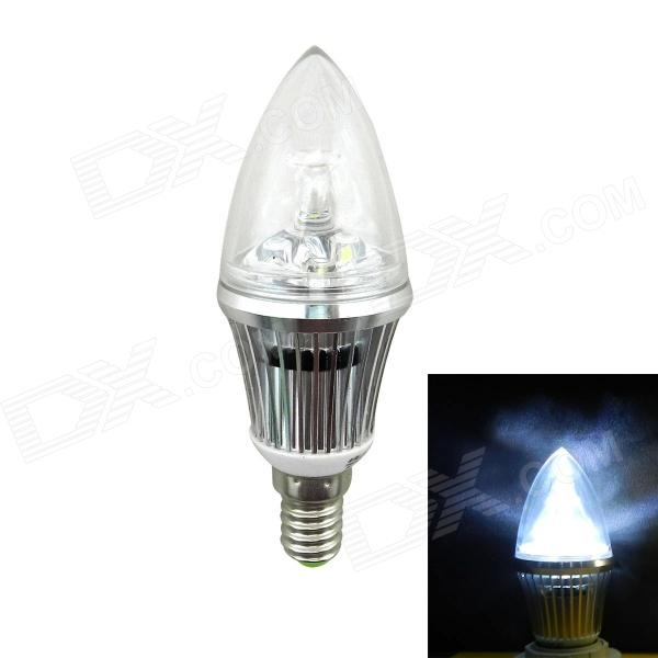 In-Color High Brightness E14 3W 300lm 6000K LED Ampoule à pointe blanche - (AC 85 ~ 265V)