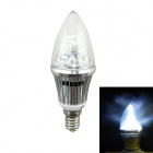 IN-Color High Brightness E14 3W 300lm 6000K LED White Light Tip Bulb - (AC 85~265V)