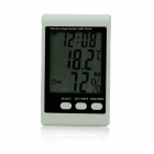 BSIDE EHT01 Indoor Electron Hygrothermograph w/ Alarm Clock - White + Black (1 x AAA)