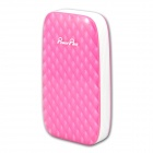 POWERPLUS X801 Portable 8000mAh Power Source Bank for Samsung / IPHONE / Nokia - White + Pink