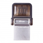 Kingston DataTraveler microDuo OTG USB Flash Drive for Phone / Tablet PC - Silver + Grey (8GB)