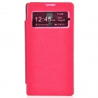 TEMEI Protective PU Leather + Plastic Case w/ Visual Window for Redmi - Deep Pink
