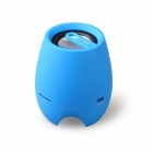D93B Portable Stereo Audio Bluetooth v3.0 Speaker w/ 3.5mm AUX-In, TF Card, Mic - Blue