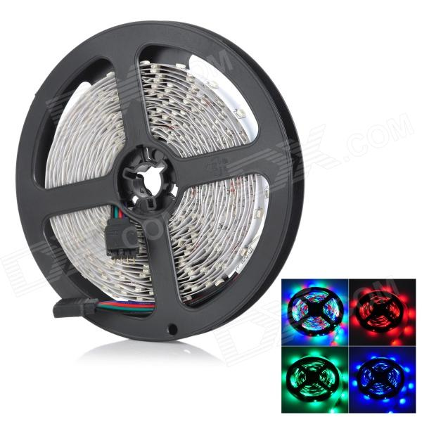 ZDM 48W 600lm 300-3528 SMD LED RGB Light Strip - White (DC 12V / 5m) zdm 5m 300 leds strip light with remote control