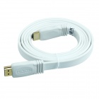 TOP-FLIGHT TOP-DM-019 High Speed HDMI V1.4  Male to Male Flat Cable - White (1.5m)