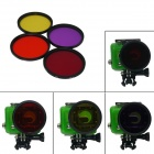 DL58MM Professional 58mm Underwater Color-Correction Red + Purple + Yellow + Orange Dive Filter