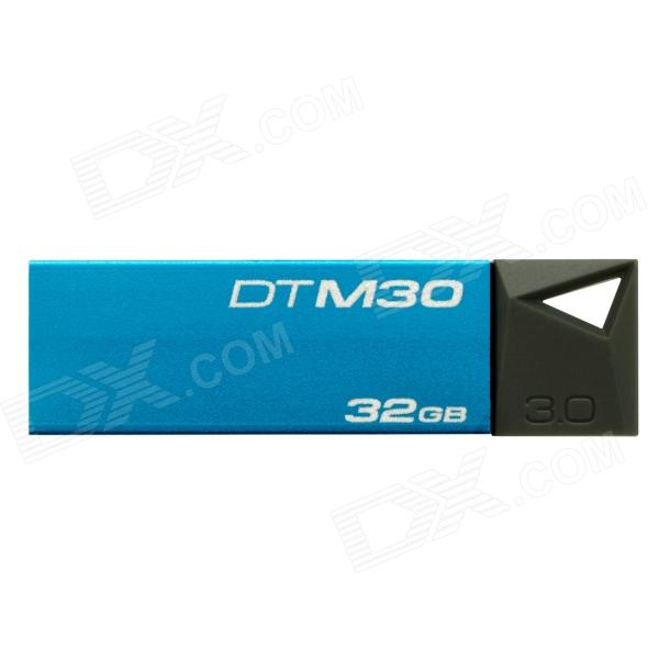 Kingston DTM30-32G Super Speed USB 3.0 Flash Drive - Blue + Grey (32GB) kingston hxf30 hyperx fury digital usb 3 0 flash drive blue black 32gb
