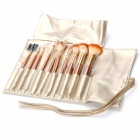 New Portable Beauty Cosmetic Makeup Brush Set with Carrying Bag (10-Piece Pack)