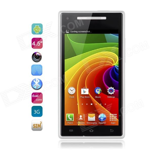"4.2 WCDMA Bar Catee CT200 MTK6572 Dual-Core Android Phone w / 4.5 ""IPS, 5.0 MP, GPS, 4 Go de ROM - Blanc"