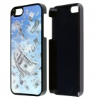 Lucky 3D US Dollar Design Protective PC Back Case for IPHONE 5 / 5S - White + Blue