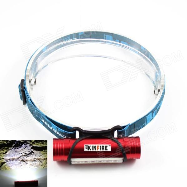 KINFIRE USB Rechargeable 6 x SMD 5730 LED 220lm 3-Mode White Headlamp / Camping Light - Red + Blue