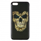 Fashionable 3D Skull Head Design Protective PC Back Case for IPHONE 5C - Black + Yellow