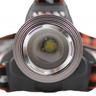 KINFIRE KF-6 LED 700lm 3-Mode White Headlight - Black (2 x 18650)