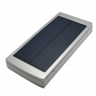 "Universal Dual-USB ""20000mAh"" Solar Energy Power Source Bank - Silver + White"