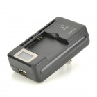 "IKKI ""4350mAh"" Li-ion Battery + 0.8"" LCD US Plugss Charger + EU Plug Adapter for Samsung Galaxy S5"