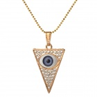 Fenlu SJBY-025 Women's Eye Style Zinc Alloy Chain Pendant Necklace - White + Golden