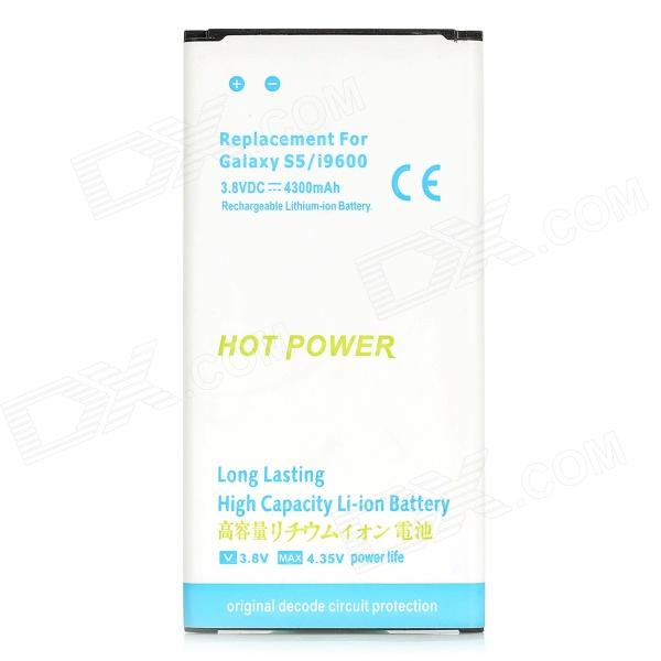High Capacity Portable 3.8V 3200mAh Li-ion Battery for Samsung Galaxy S5 - Blue + White