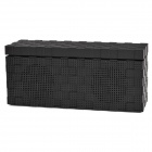 N11 Hands-Waving Recognition Bluetooth V3.0 Stereo Speaker w/ Microphone / TF Card Slot - Black