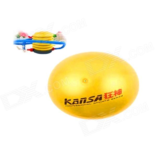 YWDN KS1206 Rampages Thickened Explosion-proof Environmental Protection Inflator Yoga Ball - Yellow