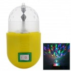 US Plug 3W RGB Revolving LED Light - Yellow + White (AC 85~265V)