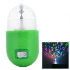 US Plug 3W RGB Revolving LED Light - Green + Transparent (AC 85~265V)