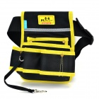 REWIN WB-9025 Handy 2-pocket 5-holder Water Resistant Dacron Waist Tool Bag - Black + Yellow