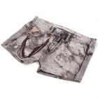 Fashion Jeans Style Bamboo Fiber Underwear for Men - Coffee + White (Free Size)