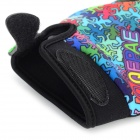 Qepae 7509 Windproof Cycling Lycra + Sponge Full-Finger Gloves - Black + Multicolored (L / Pair)