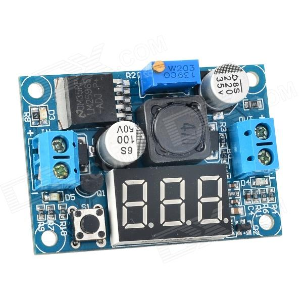 SJ-DC035-DASD Digital Display LM2596S Adjustable Step-down Voltage Regulator Module - Blue + Black