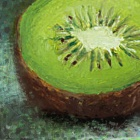 Iarts DX0415-11 Kiwi Fruit Hand Painted Oil Painting