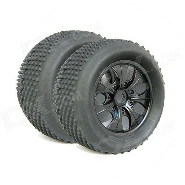 High Quality Rubber Tire for 1:8 HPI 5.9 Hellfire Truck - Black (2 PCS)