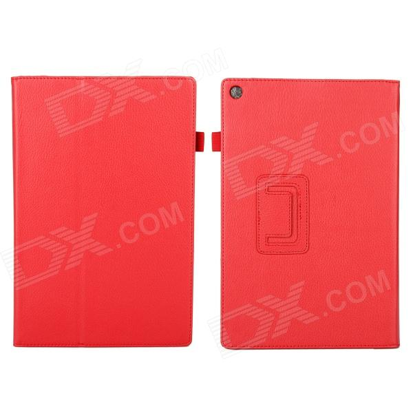 EPGATE Litchee Pattern Protective PU Leather Case Cover Stand for SONY Xperia Tablet Z2 - Red чехол книжка lazarr protective case для sony xperia z2 d6503 из экокожи black