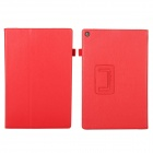 EPGATE Litchee Pattern Protective PU Leather Case Cover Stand for SONY Xperia Tablet Z2 - Red