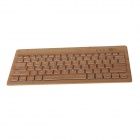 Mzjp01 Bamboo Mini Wireless Bluetooth V3.0 81-Key Keyboard - Yellow