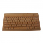 Mzjp01 Bamboo Mini Wireless Bluetooth V3.0 Teclado de 81 teclas - Amarelo
