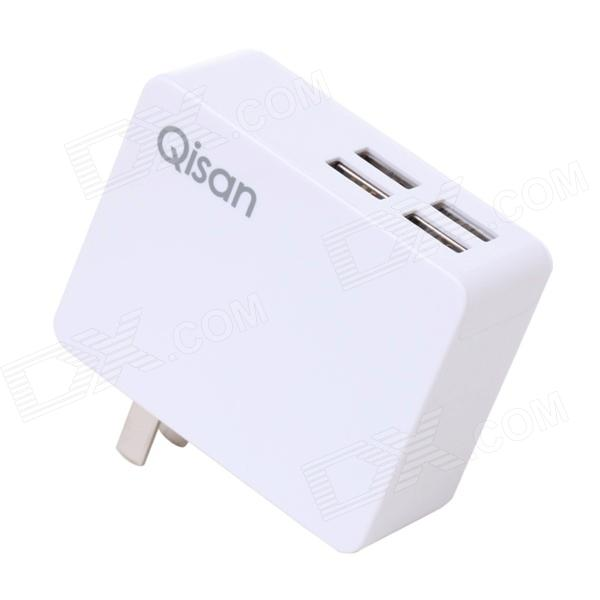 Qisan C40 5A 4-USB-laddare Travel nätadapter för IPHONE 5S / 5C / 5 / iPad Air + Mer - (US pluggar)
