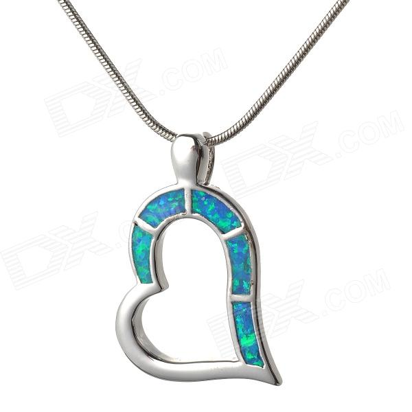 80366 Women's Stylish Star of the Sea Shaped Zinc Alloy Necklace - Silver + Blue