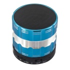 Mini Portable 3W Bluetooth V2.1 Speaker w/  Micro USB / Mic / TF for IPHONE / IPAD - Blue + Black
